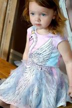 Baby Sara-Swan Dress for Girls - PREORDER
