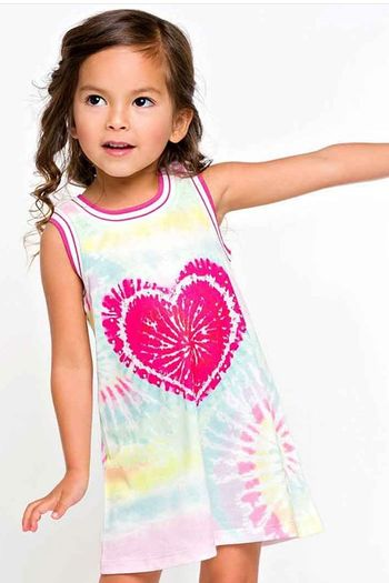 Baby Sara Tie Dye Heart Dress (2T,3T,6,6X)