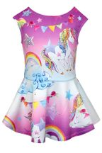 Baby Sara Unicorn Rainbow Clouds Dress (12Mos,18Mos,24Mos)