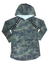 Camo Hooded Dress with Pocket (Size 12)
