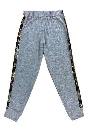 Casually Comfortable Pant With Camo Sequin (Size MD 10)