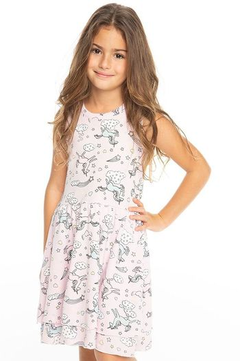 Chaser All Over Unicorn Tank Dress (2,3,10)
