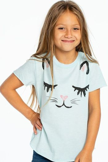 Chaser Kitty Cat Short Sleeve Tee