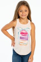 Chaser Macaroon Racer Back Tank (Size 14)