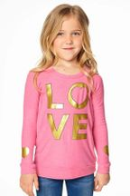 Chaser Princess Pink Gold Love Sweatshirt (2,3,6,7)