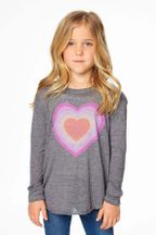 Chaser Rainbow Heart Long Sleeve Tee (2,3,4,5,6)