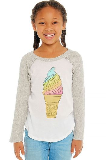 Chaser Rainbow Ice Cream Cone Tee