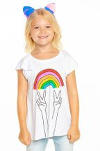 Chaser Rainbow Peace Tee 1983 (Sizes 2 to 12)