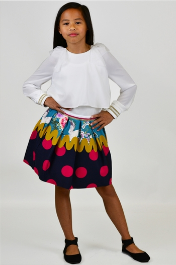 Contemporary Polka Dot Fancy Skirt (5/6 & 9/10)