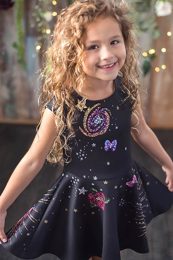 Cosmic Cutie Skater Dress (Size 14)