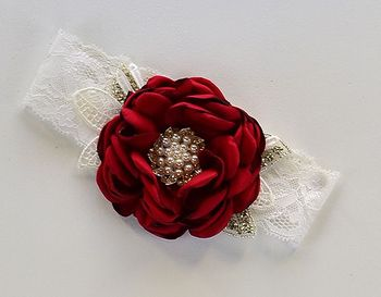 Couture Girls Headband in Red