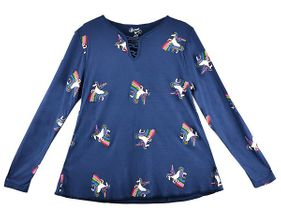 Flowers by Zoe Dancing with Unicorns Top (MD 10 & LG 10/12)