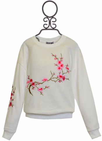 Dex White Cherry Blossom Sweatshirt