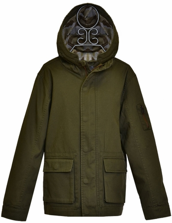 Dex Tween Jacket in Olive (Size 7 to 14)