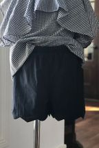 Doe A Dear Black Scalloped Shorts