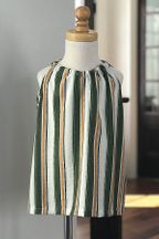 Doe A Dear Striped Top Button Back