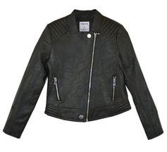 Mayoral Edgy Tween Moto Jacket Black (Size 10)