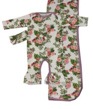 Everly Grey Floral Romper Set