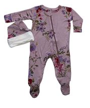 Everly Grey Footie Set Lavender