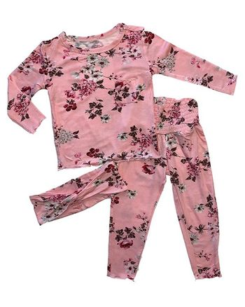Everly Grey Pant PJ Set Blossom (Sizes 12 Mos to 8)