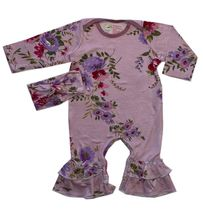 Everly Grey Ruffle Romper Set Lavender (Size 12-18Mos)