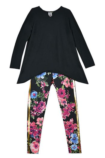 Fabulously Flora Black Top and Leggings SOLD OUT