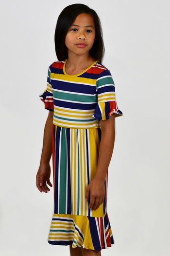 Falling For Fall Striped Dress