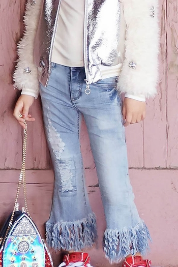 Fancy Flair Fringe Jeans