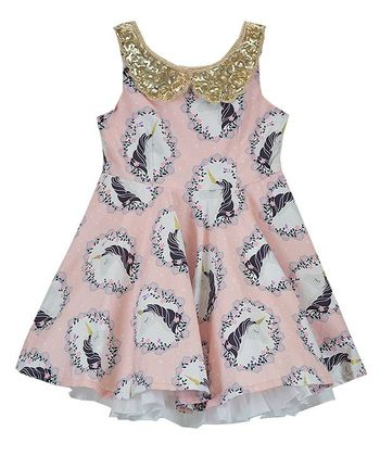 Five Loaves Two Fish Unicorn Fashionista Dress (Size 3)