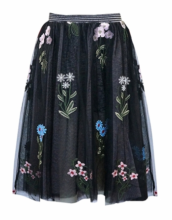 Flowers Are The Seeds of Today Maxi Skirt