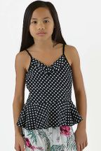 Flowers by Zoe Black & White Polka Dot Top (Size 2T to 14)