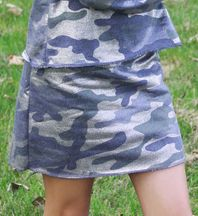 Flowers By Zoe Camo Glitter Skirt (2T,5,MD 10)