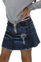 Flowers by Zoe Distressed Denim Skirt (Sizes 2T to 10)