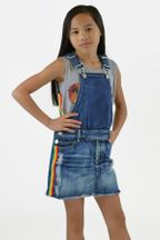 Flowers by Zoe Girls Overall Denim Dress (Size 5)