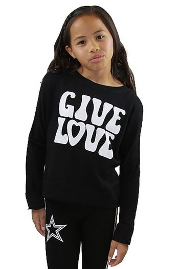Flowers by Zoe Give Love Sweatshirt in Black