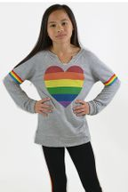 Flowers by Zoe Heart Rainbow Sweatshirt (2T,3T,4,5,6X)