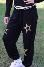 Flowers By Zoe Joggers Black Gold Star (3T & 4)