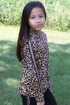 Flowers By Zoe Leopard Hoodie with Stripe (3T,5,6,6X)