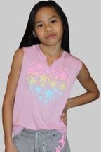 Flowers by Zoe Pink Star Tank (2T,3T,4,5)