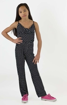 Flowers by Zoe Polka Dot Jumpsuit Black and White (Size 4)