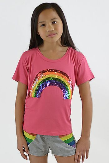Flowers by Zoe Sequin Rainbow T-Shirt (2T & 5)