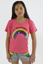 Flowers by Zoe Sequin Rainbow T-Shirt (Size 2T)