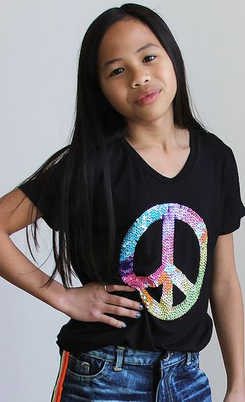 Flowers By Zoe Sequins Peace Top