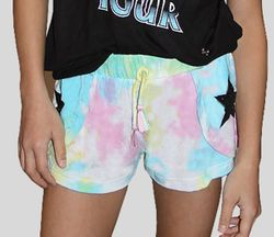 Flowers By Zoe Star Shorts in Tye Dye