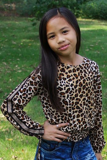 Flowers By Zoe Leopard Banded Top (2T,4T,4,5,LG 10/12,XL 12/14)