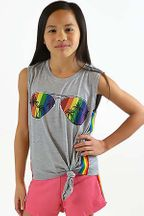 Flowers by Zoe Sunglasses Rainbow Top (2T & 4T)