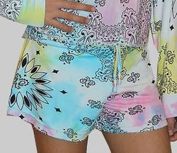 Flowers By Zoe Tie Dye Bandana Shorts