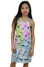 Flowers by Zoe Tie Dye Dress (4T,4,5,6,6X)