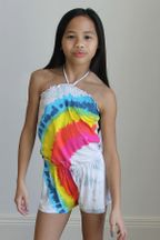 Flowers By Zoe Tie Dye Rainbow Romper