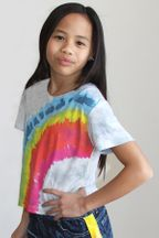 Flowers By Zoe Tie Dye Rainbow Tee